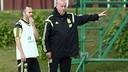 Andrés Iniesta and Vicente del Bosque / PHOTO: sefutbol.com