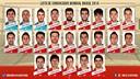 The full Spanish squad for Brazil