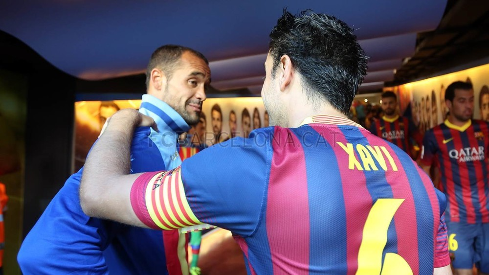 Xavi and Dani Alves