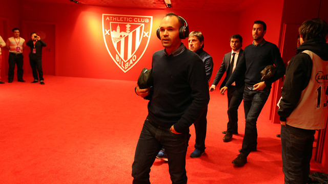 Andrés Iniesta at the new San Mamés / PHOTO: MIGUEL RUIZ - FCB