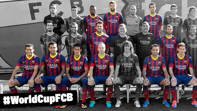 FC Barcelona players in Brazil World Cup 2014