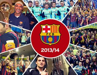 Fotomontaje con los momentos más destacados del Barça Alusport durante la temporada 2013/14