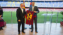 President Bartomeu and Ricardo Kirschbaum / PHOTO: VÍCTOR SALGADO - FCB