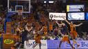 Marcelinho Huertas threw the winner in Valencia. PHOTO: ACBPHOTO