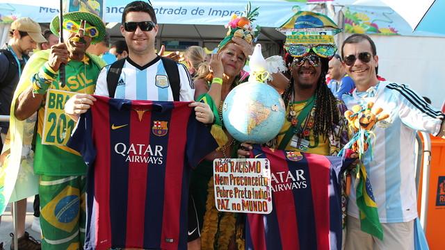 #BrasilFCB, el Barcelona invita a que sus hinchas manden fotos con la camiseta blaugrana desde el Mundial