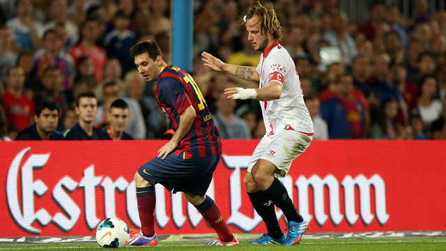 Rakitic captained Sevilla last season. / PHOTO: MIGUEL RUIZ-FCB