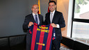 Gérard Bocquenet  et Josep Maria Bartomeu  / PHOTO: MIGUEL RUIZ - FCB