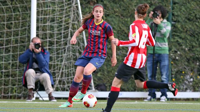 Femeníno A-Athletic de Liga disputado a la Ciutad Deportiva la pasada temporada