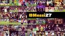 Design foto untuk ultah Messi ke-27