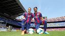 Deulofeu i Rafinha, al Camp Nou. FOTO: MIGUEL RUIZ - FCB