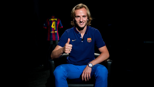 Rakitic, in the interview with Barça TV. PHOTO: GERMÁN PARGA - FCB