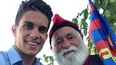 Marc Bartra was joined by the Barça grandfather at the event / PHOTO: Twitter Marc Bartra