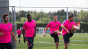 Barça B trained for the first time this preseason / PHOTO: GERMÁN PARGA - FCB