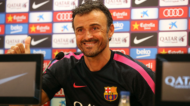 Luis Enrique was speaking to the press at Wednesday lunchtime. PHOTO: MIGUEL RUIZ - FCB