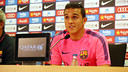 Jordi Masip gave his first press conference as a first team player. PHOTO: MIGUEL RUIZ - FCB