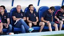 Luis Enrique managed the Barça first team for the first time tonight. PHOTO: MIGUEL RUIZ-FCB.