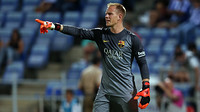 Ter Stegen giving orders against Recreativo
