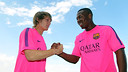 Halilovic and Adama / PHOTO: MIGUEL RUIZ-FCB