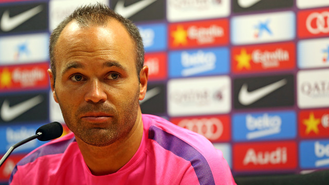 Iniesta spoke to the media this morning / PHOTO: MIGUEL RUIZ-FCB