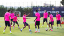 The players returned to the training field early on Thursday evening. PHOTO: GERMÁN PARGA - FCB