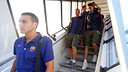 The Barça squad arrived in Finland on Friday evening / PHOTO: MIGUEL RUIZ / FCB