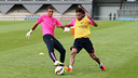 Masip et Neymar Jr, lundi / PHOTO: MIGUEL RUIZ-FCB