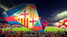 panoramic view of camp nou during a match