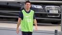 Leo Messi, dirigint-se a l'entrenament de dijous a la Ciutat Esportiva / FOTO: MIGUEL RUIZ - FCB