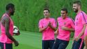 Xavi Hernández in training on Monday morning / PHOTO: MIGUEL RUIZ - FCB