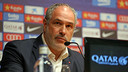 Andoni Zubizarreta during the press conference / PHOTO: MIGUEL RUIZ-FCB