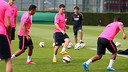Messi was among the players that trained today. PHOTO: MIGUEL RUIZ - FCB