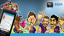 New pack of Barça stickers on the BlackBerry official channel