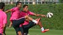 Pedro Rodríguez exercised normally on Saturday morning / PHOTO: MIGUEL RUIZ - FCB