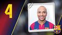 Imatge oficial d'Ari Santos amb la samarreta del FC Barcelona