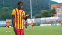Dongou, durante la pretemporada / FOTO: ARXIU FCB
