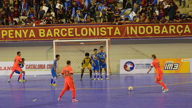 Barça against the Indonesian side