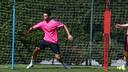 Pol Calvet, en un entrenamiento. FOTO: MIGUEL RUIZ-FCB.
