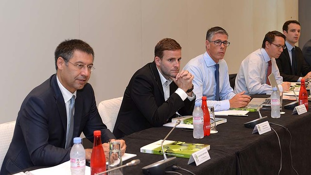 President Bartomeu during the meeting, PHOTO: ECA