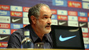 Andoni Zubizarreta was speaking in the Ricard Maxenchs pressroom / PHOTO: MIGUEL RUIZ - FCB