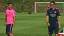 Douglas y Luis Enrique. FOTO: MIGUEL RUIZ-FCB.
