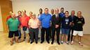 Jordi Cardoner with penya members of Castelló / FOTO: MIGUEL RUIZ - FCB