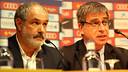 Jordi Mestre and Andoni Zubizarreta press conference