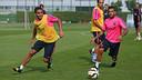 Douglas et Alves / PHOTO: MIGUEL RUIZ - FCB