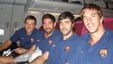 Rutenka, Karabatic,Entrerríos and Viran are among the travelling group. /PHOTO:ARXIU-FCB