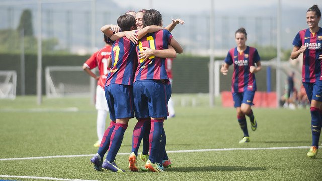 The Barça ladies got off to a winning start in the UCL / PHOTO: FCB archive