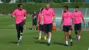 Bravo y Mathieu se han reincorporado este martes / FOTO: MIGUEL RUIZ-FCB