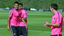 Neymar was back in training after playing for Brazil / PHOTO: MIGUEL RUIZ - FCB