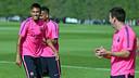 Neymar Jr se ha incorporado al grupo después de los compromisos con Brasil / FOTO: MIGUEL RUIZ - FCB