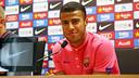 Rafinha at Thursday's press conference at the Ciutat Esportiva Joan Gamper / PHOTO: MIGUEL RUIZ-FCB