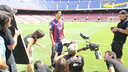 Luis Suárez was one of the first team stars that appeared in the video / PHOTO: FCB